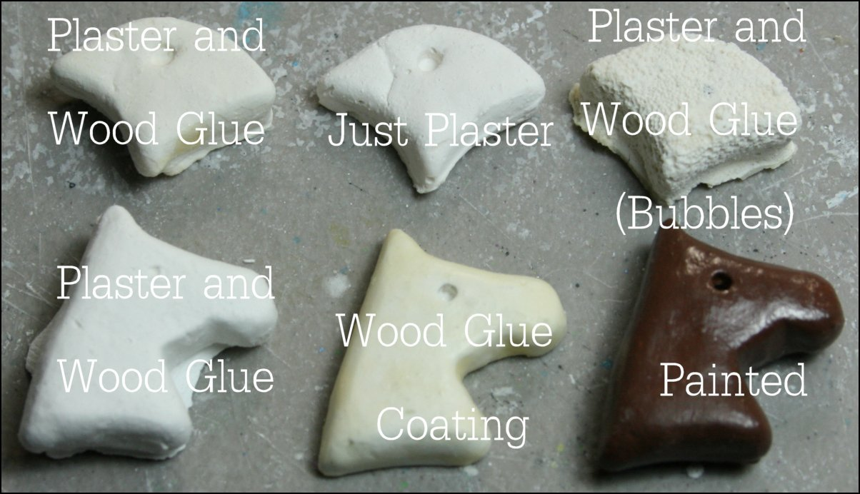 Casting in Silicone molds using Plaster of Paris and Wood