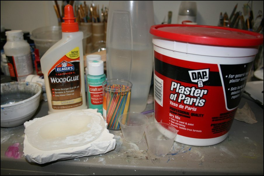 Perfecting the Plaster of Paris and Wood Glue Mix « Martha net