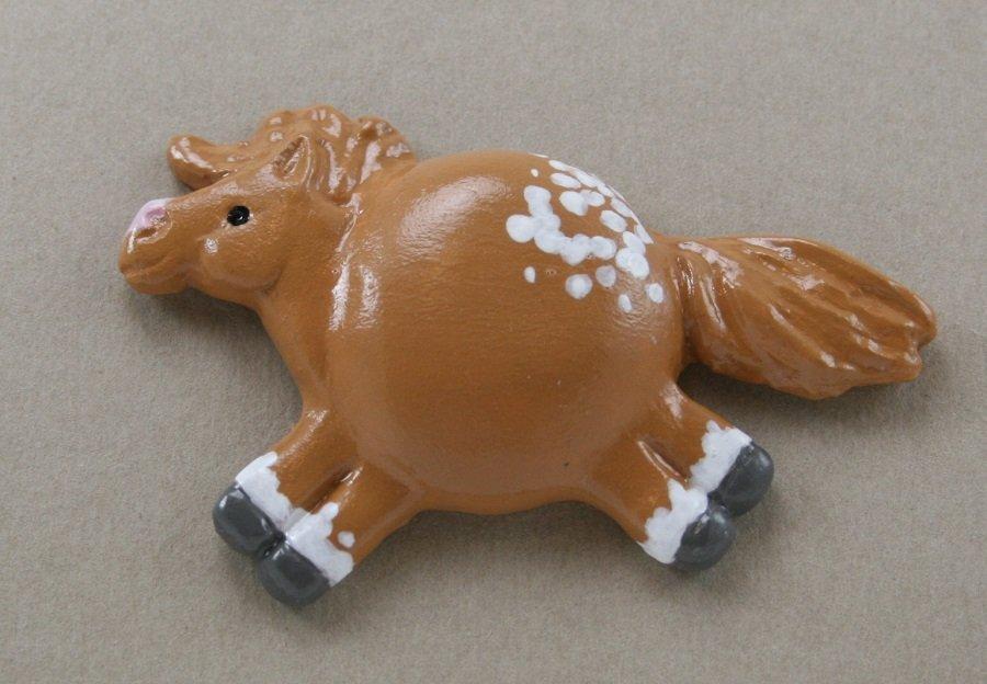 Chestnut No Spot Blanket Appaloosa – Fat Pony Magnet #045