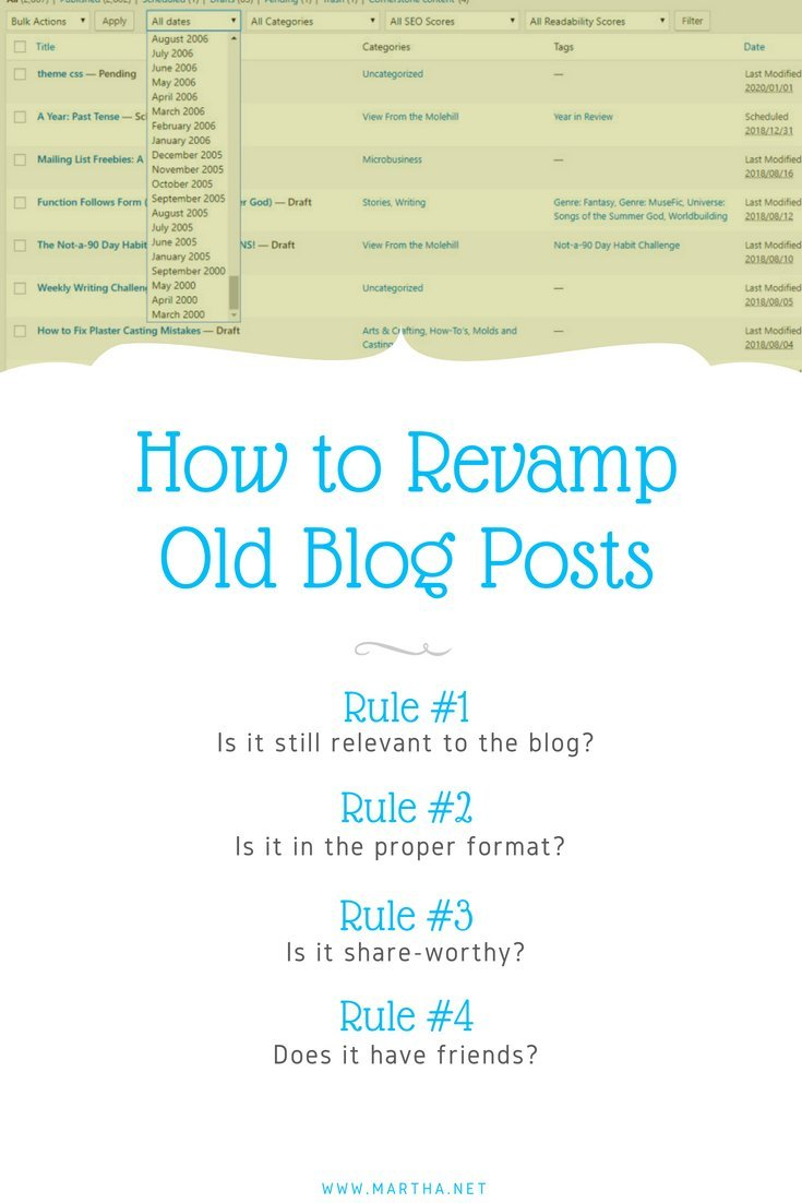 How to Revamp Old Blog Posts