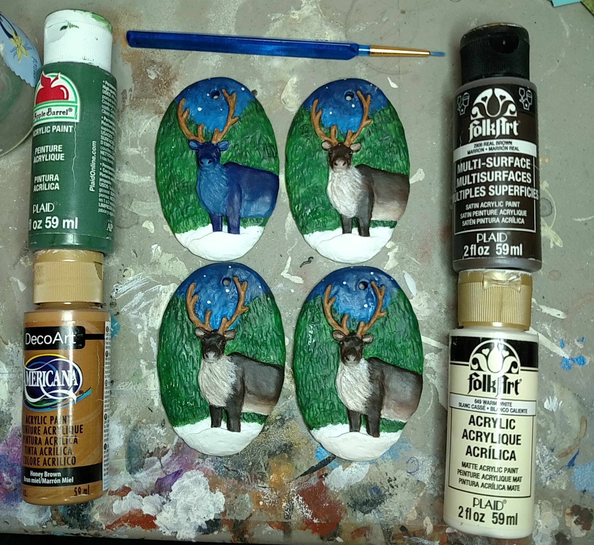 Costing out the Reindeer Resin Ornaments